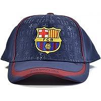 Barcelona FCB Debossed Baseball Cap Navy Maroon Adjustable Velcro Strap Crest