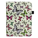 Emartbuy 360 Degree Rotating Stand Folio Wallet Case Cover for Acer Iconia B1-720 (Multi Butterfly_7-8 Inch 360)