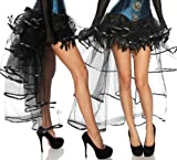 Burlesque Volant-Rock, schwarz