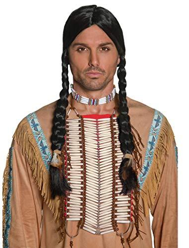 Smiffy's Smiffys-36177 Coraza Inspirado por los Americanos nativos, Blanca, Color Crema, No es Applicable 36177