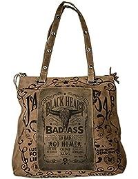 Jack/'s Inn 54 Bourbon Snakebite Tasche braun Echt Leder Vintage Umhängetasche