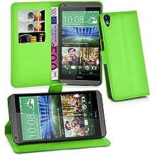 Cadorabo - Funda HTC DESIRE 820 Book Style de Cuero Sintético en Diseño Libro - Etui Case Cover Carcasa Caja Protección (con función de suporte y tarjetero) en VERDE-DE-MENTA