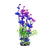 shyymaoyi Plastic Artificial Plant Fake Flower Plants Fish Tank Aquarium Decor Ornaments Purple