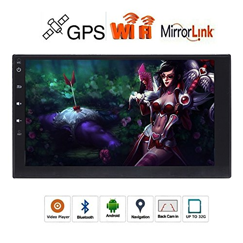 HD 17,8cm Kapazitive Touchscreen Doppel DIN Autoradio mit Android 6.0OS in Dash 2DIN AUTORADIO GPS Navigation für/Bluetooth/WIFI/3G/4G/USB/MP3-