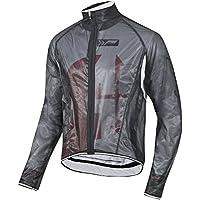Fahrrad Regenjacke transparent,extrem dünn, enger, körpernaher Schnitt! Stoff: Zero Wind ist elastisch und wasserdicht, atmungsaktiv, Schnitt für Damen, Herren, Kinder in schwarz, weiß oder neon gelb