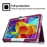 Fintie Samsung Galaxy Tab 4 10.1 Hülle Case - Slim Fit Folio Kunstleder Schutzhülle Cover Tasche für Samsung Galaxy Tab 4 10.1 SM-T530 SM-T535 Tablet (mit Auto Schlaf/Wach Funktion), Lila Vergleich