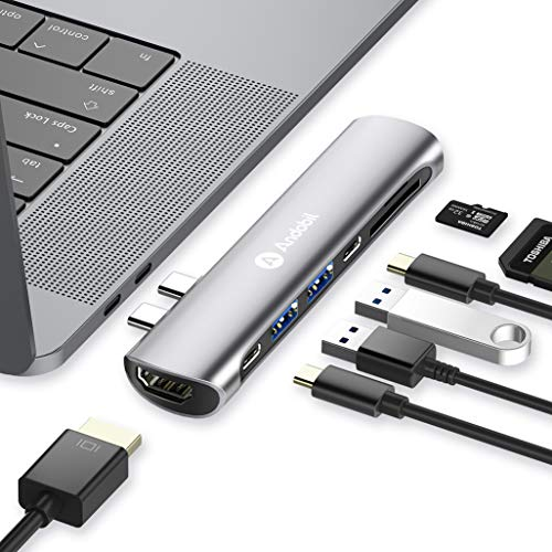 Andobil 7 in 1 USB C Hub für MacBook Pro 2018/2017/2016 13