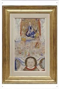 Oil Painting of James Ensor - Icon - Portrait of Eugene Demolder de Enseignes affiche en metal 20*29cm by Wposter