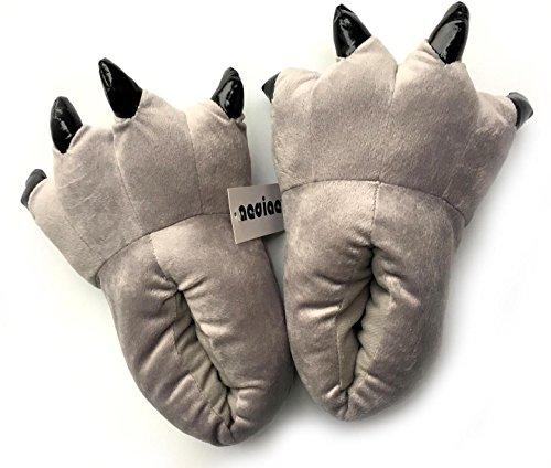 ACDIAC - Zapatillas de estar por casa de Poliéster para mujer azul gris Hombre (6-10) Tamaño:EUR39-45