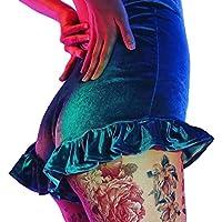 yunhou Pantalones Cortos - Terciopelo para Adolescentes Damas Bastante Volantes Pantalones Fiesta Playa Discoteca Atractivos Casual Pantalones
