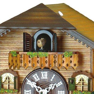 Quartz Cuckoo Clock Swiss house, turning dancers, incl. batteries
