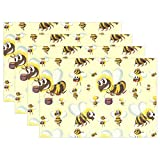 GOODSTHING napperon, Bumble Bee Pattern Set of 4 Placemats Heat-Resistant Table Mat...