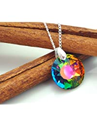 Crystals & Stones * Sun Sol * * * Swarovski Elements–Color * Vitrail Medium * Schön Mujer Collar–colgante collar joyas Tuerca regalo con cristales de swarovski