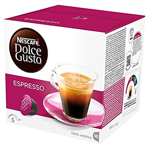 Nescafé Dolce Gusto Espresso, Pack of 3 (Total 48 Capsules, 48 servings)