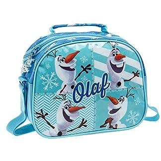 Frozen Olaf Neceser Bandolera Adaptable a Trolley, 5.32 Litros, Multicolor