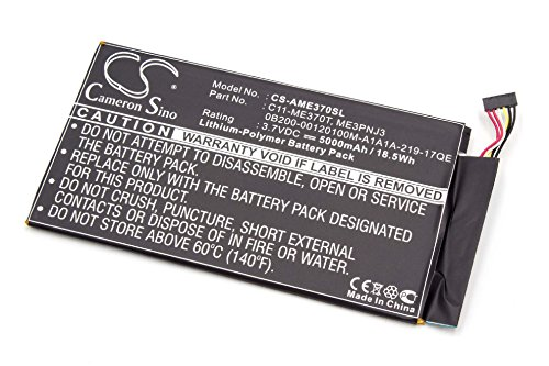 vhbw Batterie Li-Polymer 5000mAh (3,7 V) pour ASUS TF400, Transformer Pad et Transformer Pad TF400. Remplace la Batterie Type C11-TF400CD.