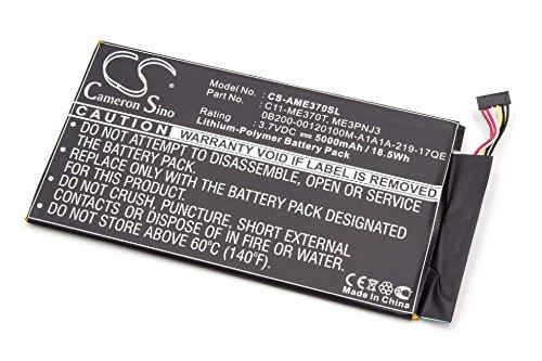 vhbw Batterie Li-Polymer 5000mAh (3,7 V) pour Asus TF400, Transformer Pad et Transformer Pad TF400. Remplace la batterie type C11-TF400CD.