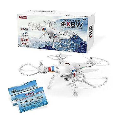 SYMA X8W WiFi Quadrocopter Live FPV Videoübertragung Explorer Drohne FPV Kamera inkl. Copter Card (Quadrocopter Android)