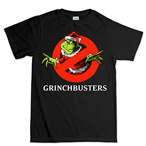 Customised_Perfection The Grinch Busters Ghost Christmas Xmas Party Santa T shirt