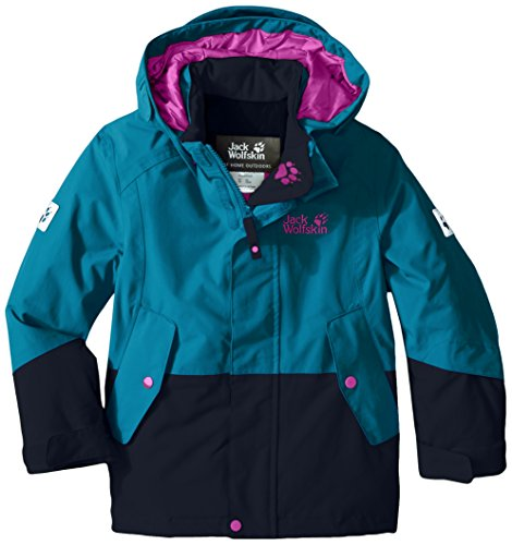 Jack Wolfskin Girls Snow Ride Texapore Insulated Jacket, Mädchen, 1605301, dunkel-türkis, 176 US(14 Years and Older)