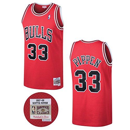 ad686a86fc03 Mitchell & Ness NBA Chicago Bulls Scottie Pippen 33 1997-98 Retro Jersey  Swingman Oficial