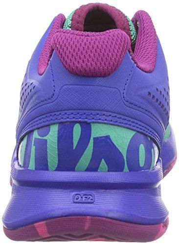 Wilson Kaos Comp W, Chaussures de Tennis femme Multicolore - Mehrfarbig (AQUAGREEN/BLUE IRIS WIL/FANDANGO PINK)