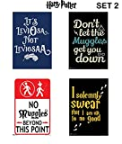 #5: WB Official Licensed Harry Potter Set of 4 Famous Quotes / Lines Poster By Happy GiftMart
