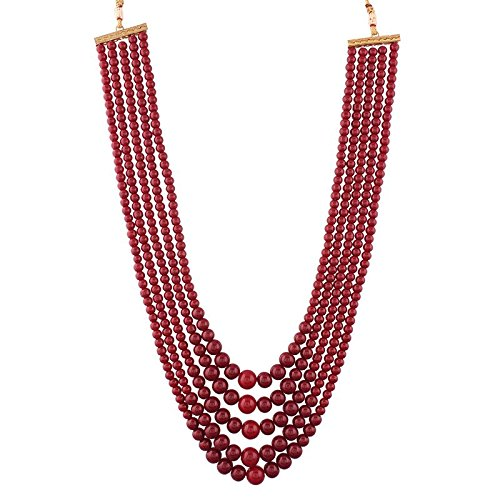 I Jewels Traditional Gold Plated Dulha Necklace/Moti Mala for Men (MLP19M)