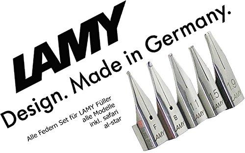 LAMY 'Alle Federn Profi Set' | Stärke F, B, 1.1, 1.5, 1.9 | Für alle gängigen LAMY...