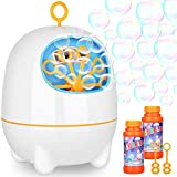 WLOVETRAVEL USB Charged Bubble Machine,Automatic Bubble Maker High Output Bubble Blower for Kids
