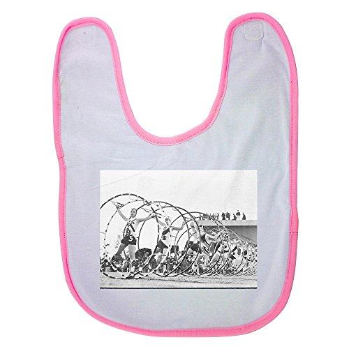 pink-baby-bib-with-acrobats