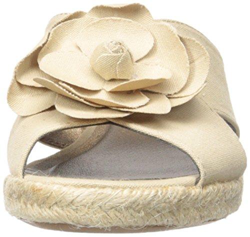 Life Stride Omega Femmes Toile Sandales Compensés Natural