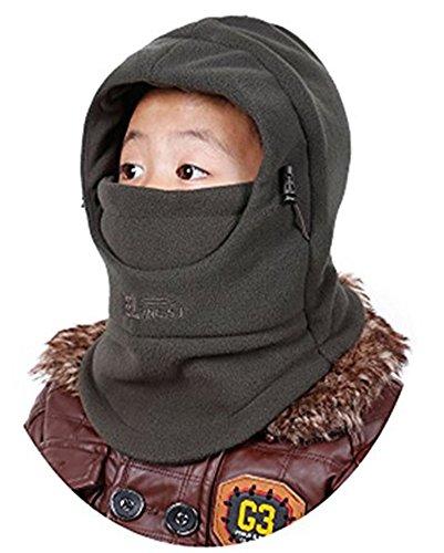 ZZLAY Kinder Balaclavas Hut Dicke Thermische Winddichte Ski Radfahren Gesichtsmaske Caps Kapuzenabdeckung Verstellbare Mütze (Jungen Streifen-thermische)