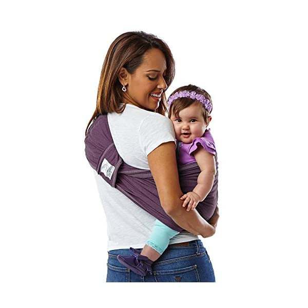 Baby K'Tan Cotton Egg Plant Baby Carrier (Medium) Baby Ktan Easy to use and put on: NO WRAPPING INVOLVED.  6 positions to conveniently carry baby & toddlers from 8 lbs to 35 lbs 100% soft natural cotton with unique one-way stretch Unique HYBRID double-loop design holds baby securely and evenly distributes weight across back and both shoulders. Washer & dryer safe 4