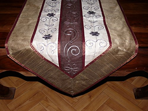 Orientalischer Tischläufer Tischdeko Tischdecke Läufer Tischband Stickerei ca. 170 x 45 cm (Marokkanische Sofa Decke)