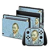 Nintendo Switch Folie Skin Sticker aus Vinyl-Folie Aufkleber Vincent van Gogh Selbstportrait Kunst