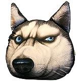 MagicXYY-cushion Simulation 3D Ärger Husky Hundekopf Kissen Kissen Kreative Zwei HA Akita Hund Plüsch