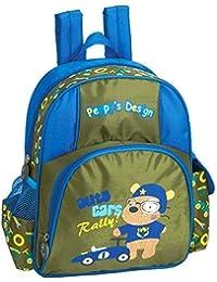 Preisvergleich für SPEAR® Kinderrucksack RALLY DOG 395 olive/hellblau Peppy`s Design Rucksack mit Brustgurt und Adressfach 30 cm