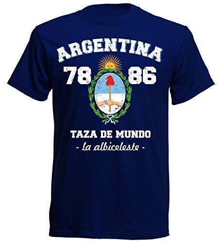 aprom Argentinien T-Shirt NC-13 - Argentina 78/86 Navy (L) Gaucho Steak