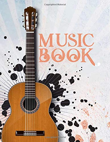 Blank Guitar Tablature Notebook: Blank Guitar Tab Paper Seven 6-Line Staves 100 Pages 8.5x11 (Music Paper Notebooks, Band 5) -