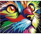 DIY Bild Katze DIY Malen Nach Zahlen Moderne Wandkunst Bild Handgemalte Wohnkultur Kunstwerke Box Senden 40x50cm Rahmenlos