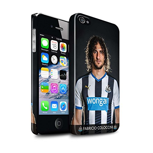 Offiziell Newcastle United FC Hülle / Glanz Snap-On Case für Apple iPhone 4/4S / Pack 25pcs Muster / NUFC Fussballspieler 15/16 Kollektion Coloccini