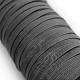 Urhome 3mm Bande Plate Élastique | Elastique Couture Tissu Rubans Extensible pour Artisanat à Coudre en Tricot Bricolage Loisir Créatif Vêtements | 20 mètres de Long et Noir