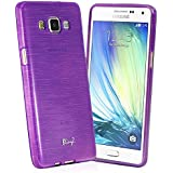 TheBlingZ.® Jelly TPU Rubber Silicone Case Cover For Samsung Galaxy A3 (2015) - Purple
