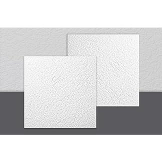 Decosa Budapest – Placa para techo (50 x 50 cm), color blanco