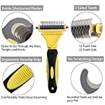 Neoteck Grooming Comb 3 Pieces Pet Grooming Dematting Comb Tool Kit Stainless Steel Double Sided Professional Dematting… 10