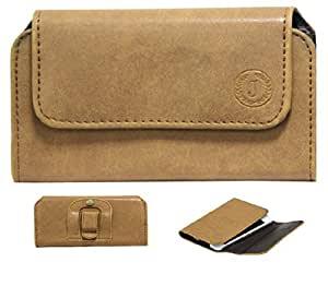 Jo Jo A4 Nillofer Belt Case Mobile Leather Carry Pouch Holder Cover Clip For LG Nexus 5X 16GB Tan