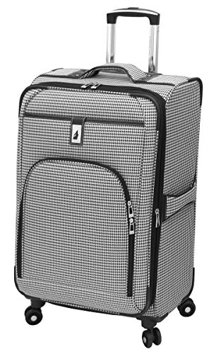 london-fog-cambridge-25-inch-expandable-black-white