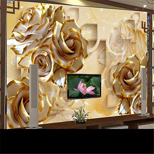Abihua Wandbilder Kundenspezifische Fototapete Wandaufkleber Große Fresken 3D Reliefs Stieg Carving Schattierung Tv Hintergrund 460Cm X 280Cm