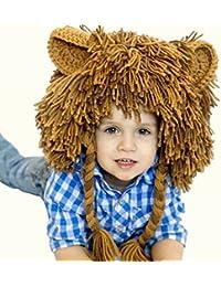 Reixus (TM) Unisex Kid Boy Chapeaux Coiffures Cosplay Chapeau Fancy Lion Feature de No?l du Nouvel An d'anniversaire Props photo cadeau